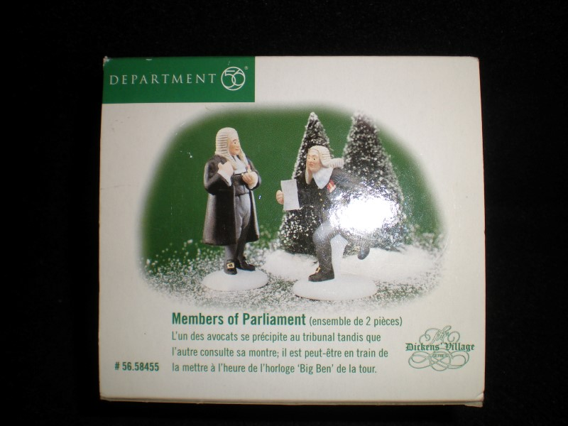 Department 56 Dickens Village Accessory Members Of Parliament Set Of Two