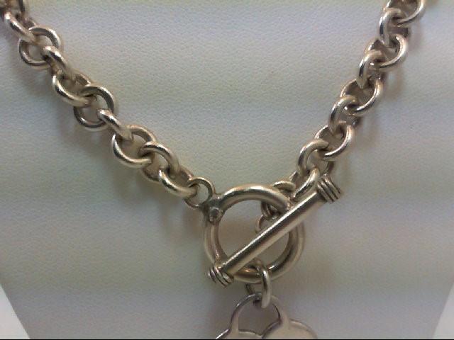 "16"" Silver Chain 925 Silver 45.9g 16"" VINT TIFFANY? HRT S925 45.9G"