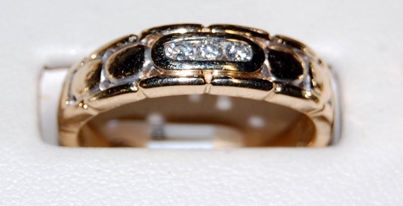 14K Yellow Gold Gent's Diamond Wedding Band 4.7G 0.18CTW Size 10
