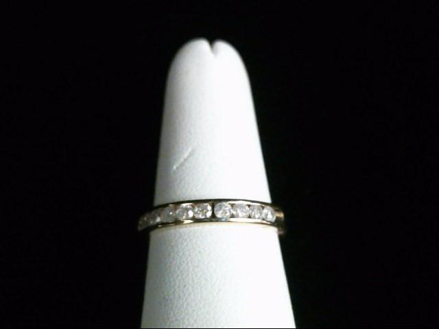 Lady's Diamond Wedding Band 10 Diamonds .40 Carat T.W. 14K Yellow Gold 3g