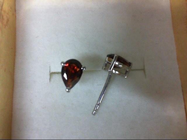 Almandite Garnet Silver-Stone Earrings 925 Silver 0.7g