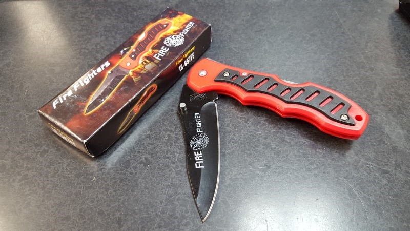 FROST CUTLERY Pocket Knife FIRE FIGHTER 16-657FF
