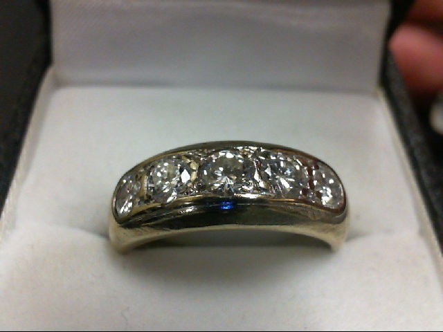 Lady's Gold-Diamond Anniversary Ring 5 Diamonds 1 Carat T.W. 14K Yellow Gold 6.2