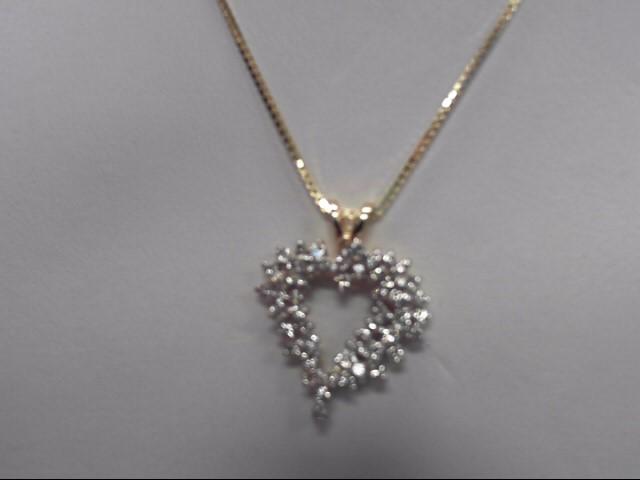 "24"" Diamond Necklace 50 Diamonds 1.00 Carat T.W. 14K Yellow Gold 6.9g"