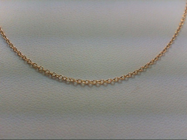 "18"" Gold Link Chain 14K Yellow Gold 1.3g"