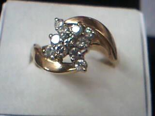 Lady's Diamond Cluster Ring 11 Diamonds .44 Carat T.W. 14K Yellow Gold 4.2g