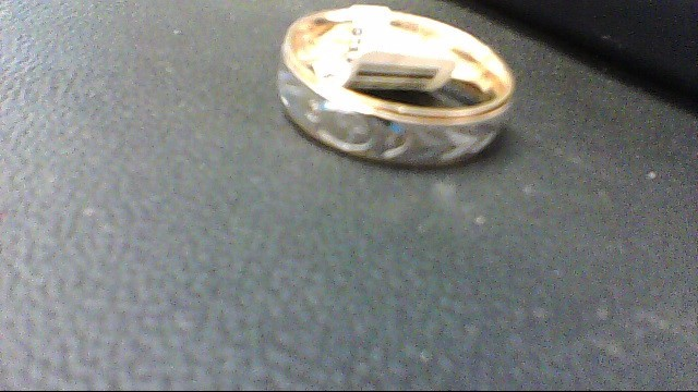 Gent's Gold Ring 10K 2 Tone Gold 3.8g
