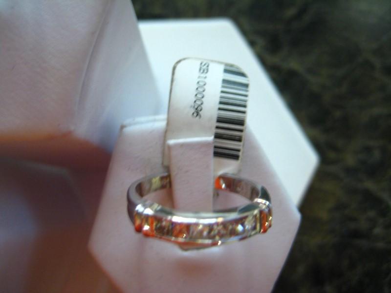 Lady's Gold-Diamond Anniversary Ring 0.01 CT. 14K White Gold 3.7g