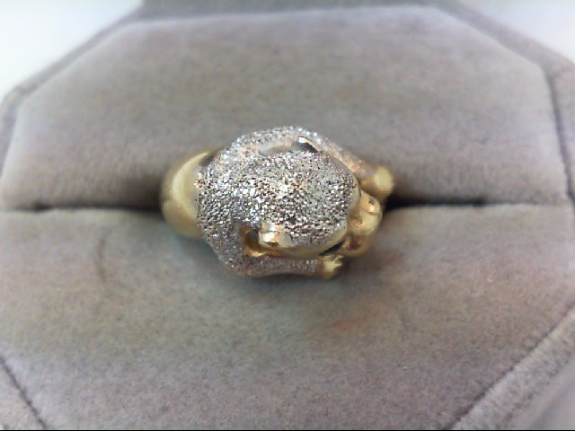 Lady's Gold Ring 14K 2 Tone Gold 5.9g