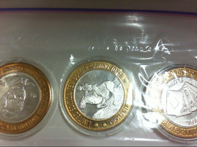 3 CASINO COINS RIVERSIDE GLD STR