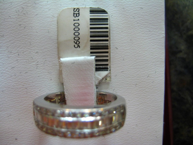 Lady's Gold-Diamond Anniversary Ring 0.01 CT. 18K White Gold 4.8g