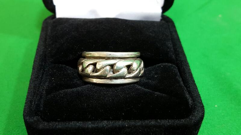 Gent's Silver Ring 925 Silver 8.8g Size:5