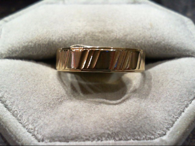 Gent's Gold Wedding Band 10K Yellow Gold 4.5g Size:10