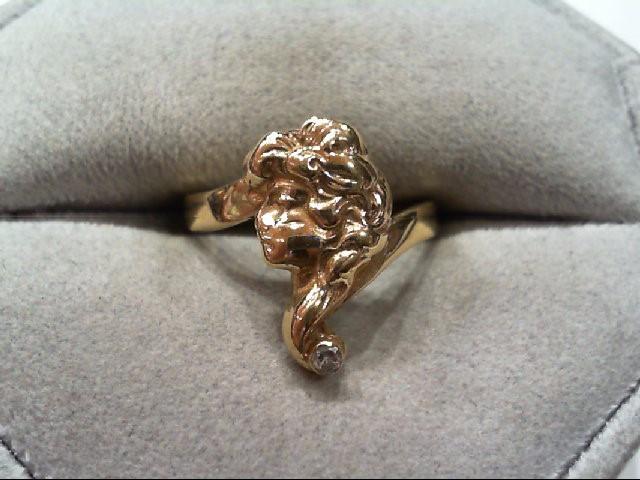 Lady's Diamond Fashion Ring .03 CT. 14K Yellow Gold 2.5g