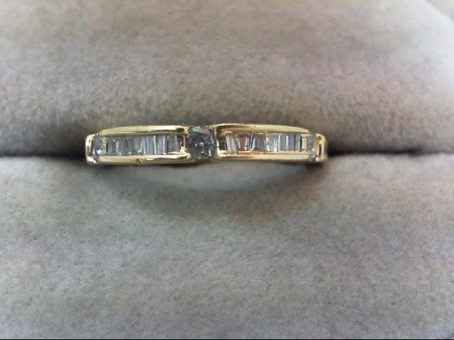 Lady's Diamond Wedding Band 18 Diamonds .39 Carat T.W. 14K Yellow Gold 1.9g