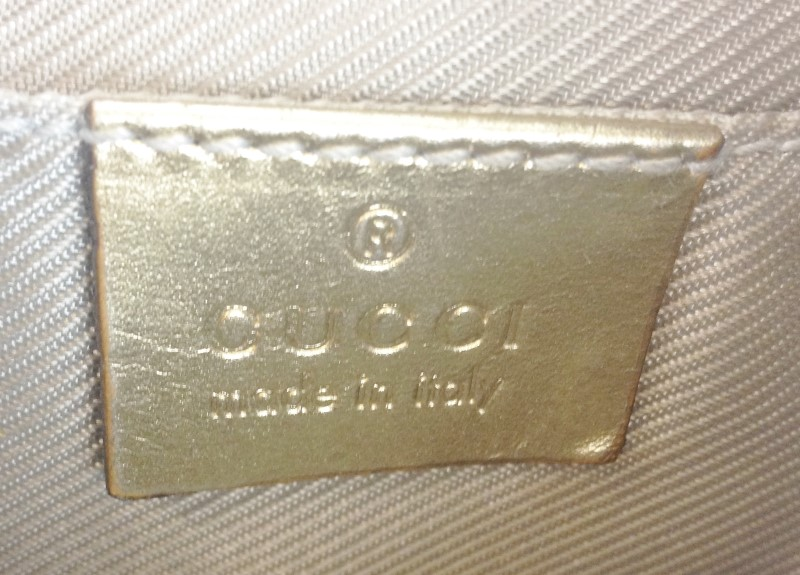 GUCCI SMALL LIGHT BLUE MONOGRAM BAG