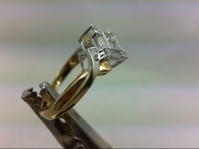 Lady's Diamond Engagement Ring 12 Diamonds .40 Carat T.W. 10K 2 Tone Gold 2.9g