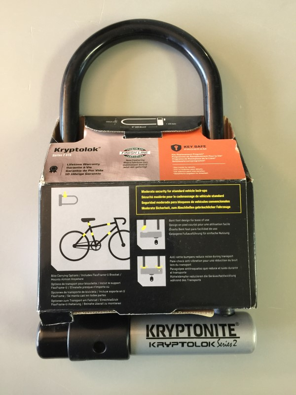 "KRYPTONITE KRYPTOLOK SERIES 2 STD 4""x9"" U-LOCK LEVEL 6 BIKE LOCK"