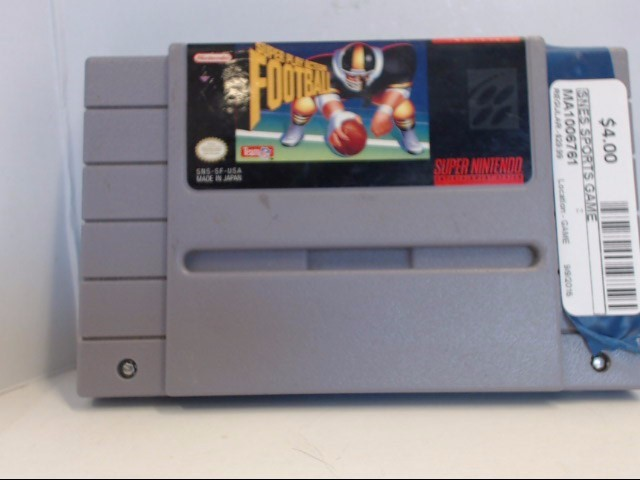NINTENDO SNES SUPER PLAY ACTION FOOTBALL *CARTRIDGE ONLY*