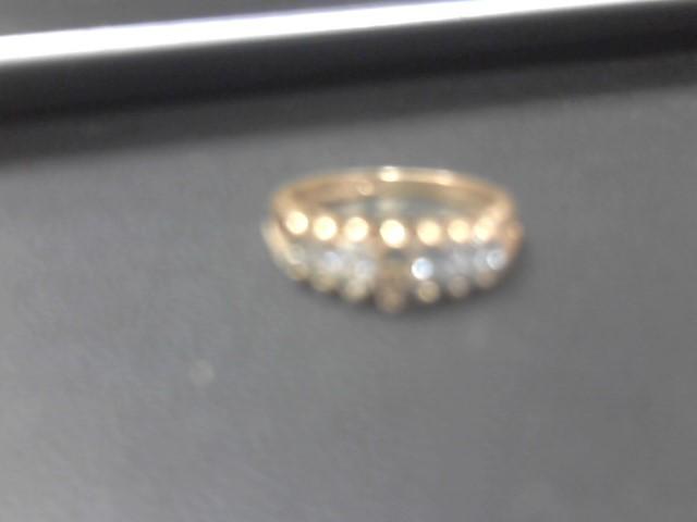Lady's Diamond Cluster Ring 7 Diamonds 1.40 Carat T.W. 14K Yellow Gold 3.6g