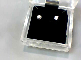 Gold-Diamond Earrings .24 CT. 14K White Gold 0.5dwt