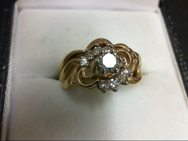 Lady's Diamond Wedding Set 9 Diamonds 0.49 Carat T.W. 14K Yellow Gold 2.9g