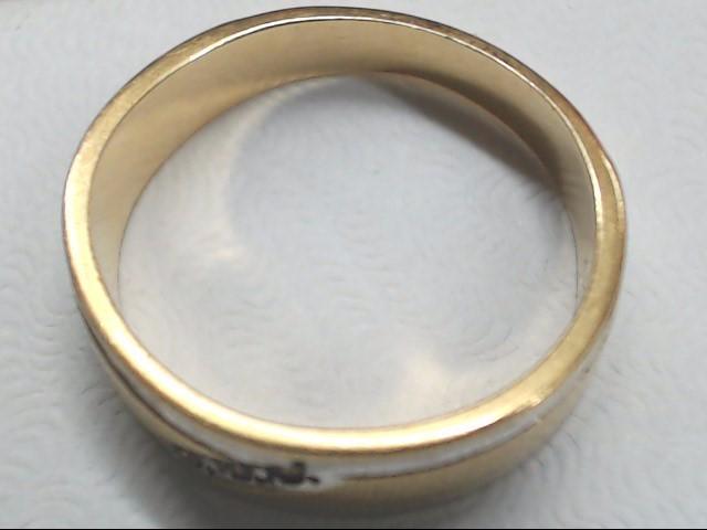 Lady's Gold Wedding Band 14K 2 Tone Gold 3.2g Size:5.8
