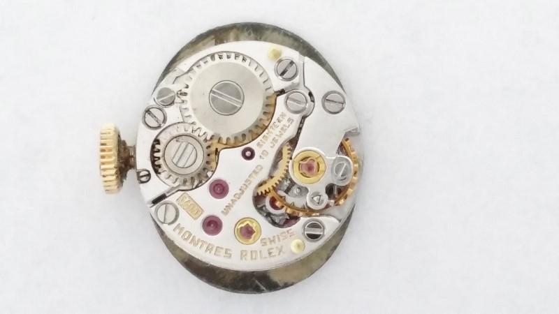 Vintage ROLEX Lady's Wristwatch 8197 Diamonds & 14K Gold *18 Jewels*