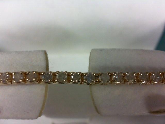 Gold-Diamond Bracelet 58 Diamonds 1.16 Carat T.W. 14K Yellow Gold 9.3g