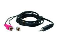 M&M N211P6; 3.8MM STEREO TO RCA CABLE 6FT