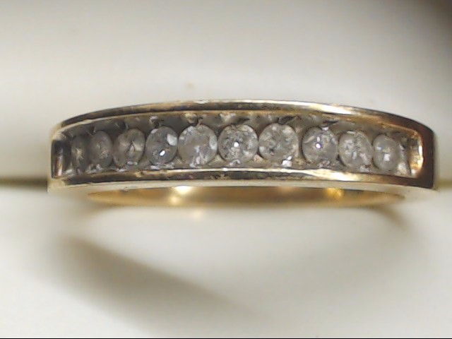 Lady's Gold-Diamond Anniversary Ring 10 Diamonds .30 Carat T.W. 14K Yellow Gold