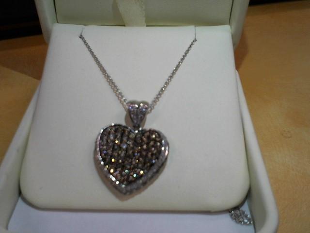 Diamond Necklace 84 Diamonds 2.52 Carat T.W. 14K White Gold 8.4g