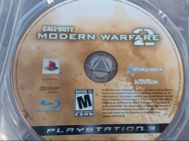 SONY PS3 CALL OF DUTY MW2