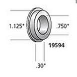 CUSTOM CHROME 19594, #43548-74; FRT WHEEL SPACER 74-77 BT/XL