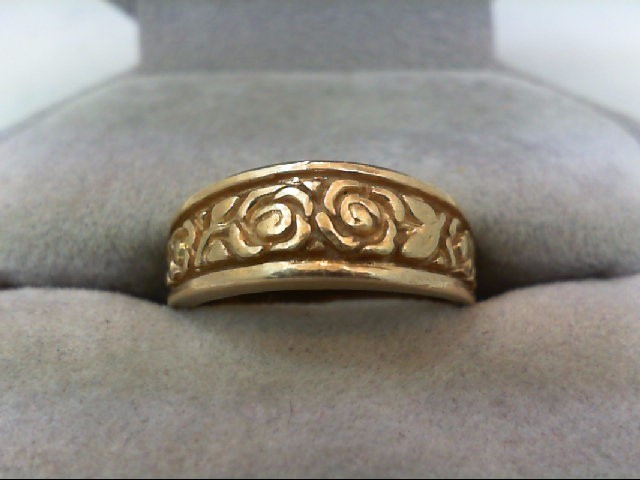 Lady's Gold Wedding Band 14K Yellow Gold 4.8g Size:6.5