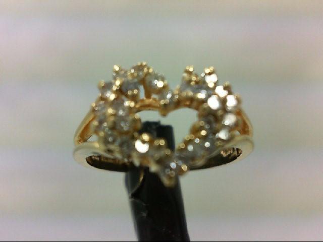 Lady's Diamond Cluster Ring 22 Diamonds 0.44 Carat T.W. 14K Yellow Gold 2.7g Siz