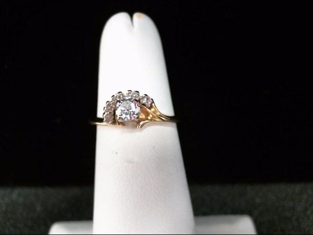 Lady's Diamond Fashion Ring 6 Diamonds .40 Carat T.W. 14K Yellow Gold 2.2g