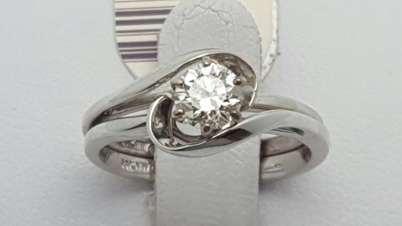 Lady's Diamond Wedding Set .43 CT. 14K White Gold 3.3g