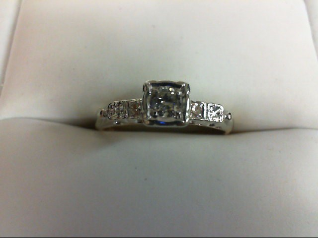 Lady's Diamond Engagement Ring 3 Diamonds 0.2 Carat T.W. 14K Yellow Gold 1.7g