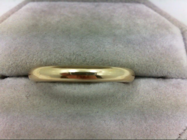 Gent's Gold Wedding Band 14K Yellow Gold 4.8g Size:10