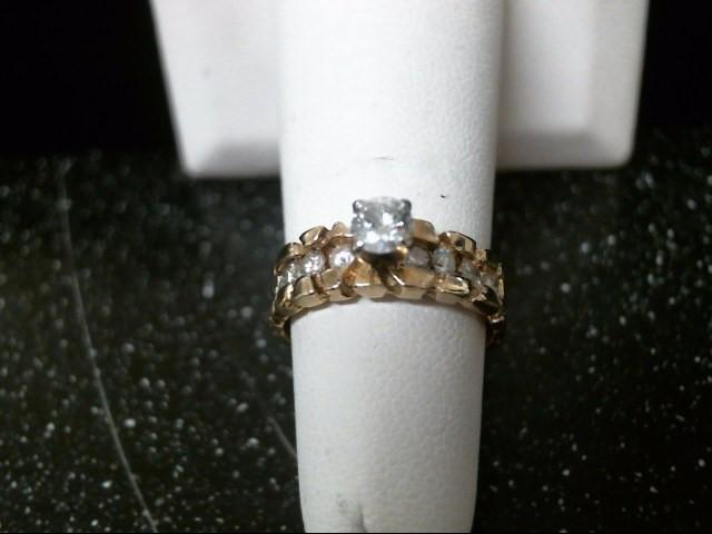 Lady's Diamond Engagement Ring 9 Diamonds .63 Carat T.W. 14K Yellow Gold 3.7g