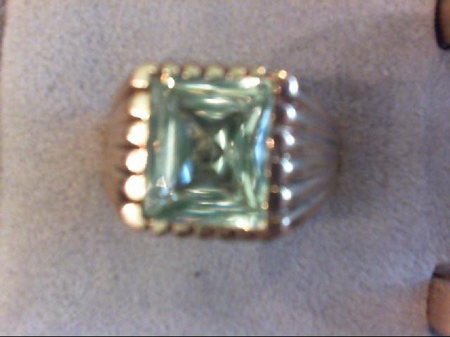 Peridot Gent's Stone Ring 10K Yellow Gold 8.9g