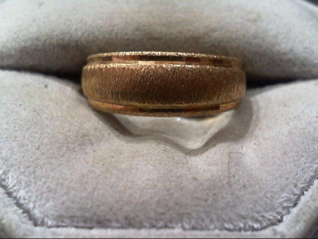 Gent's Gold Wedding Band 14K Yellow Gold 5.7g Size:8.5