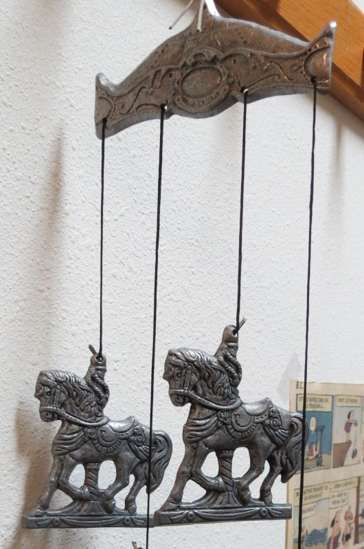 PEWTER CAROUSEL HORSE WIND CHIME