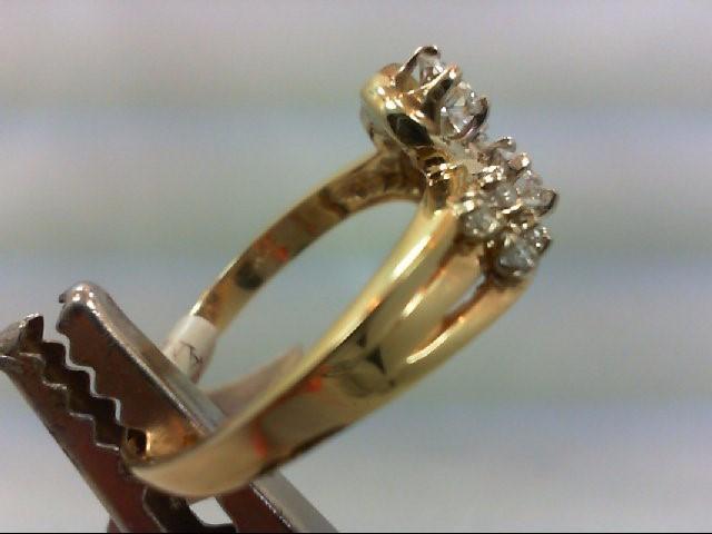 Lady's Diamond Cluster Ring 7 Diamonds .70 Carat T.W. 14K Yellow Gold 4.31g
