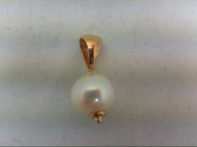 Pearl Gold-Stone Pendant 14K Yellow Gold 0.9g