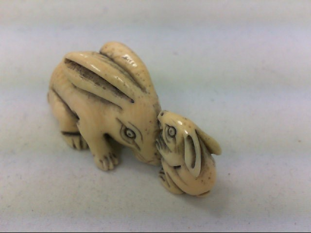 IVORY RABBIT FIGURINE