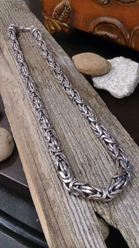 7MM SQ/TURQUISH ROPE 925 Silver 102.2g  18'' long