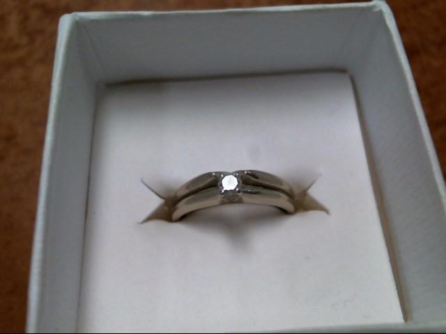 3.9G 14K WHITE GOLD DIAMOND