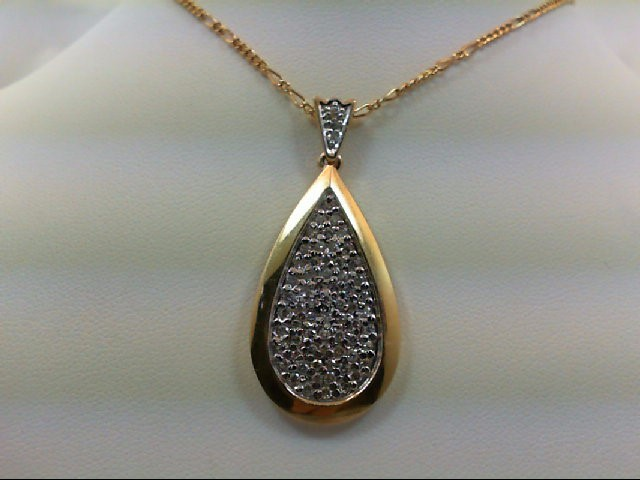 Gold-Multi-Diamond Pendant 69 Diamonds 0.99 Carat T.W. 14K Yellow Gold 5.2g